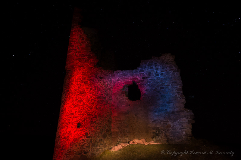 Light-painting at Ardvreck Castle