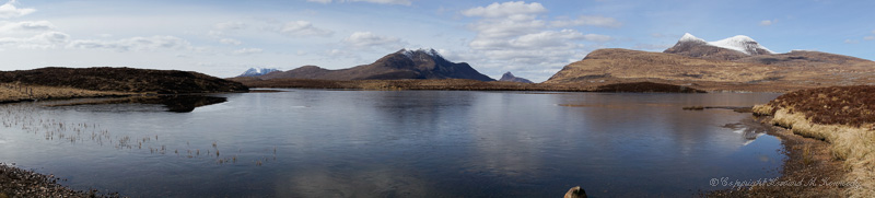 Loch an Ais and the mountains