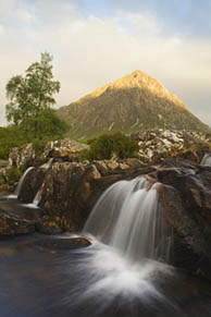 Buachaille and waterfall